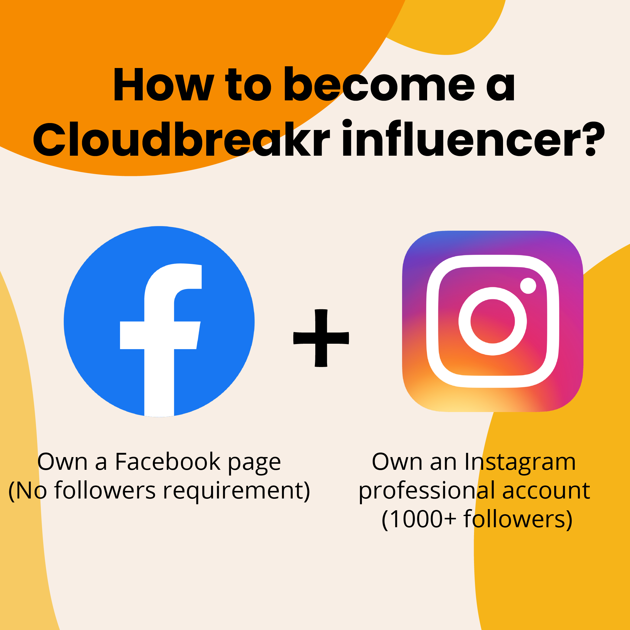 How to become a Cloudbreakr influencer